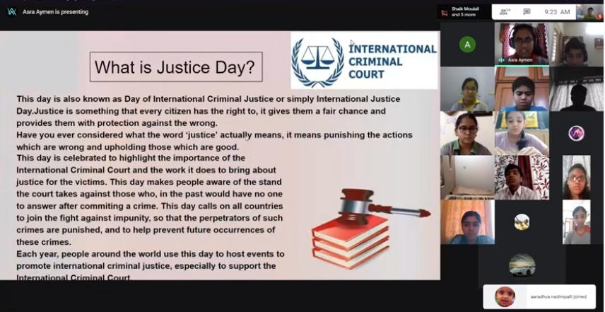 World Day for International Justice -IX D